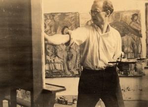 Hans Fähnle in seinem Atelier (um 1930)